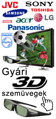 JVC Samsung Sony Toshiba Vestel LG Acer Panasonic Philips 3D szemüveg